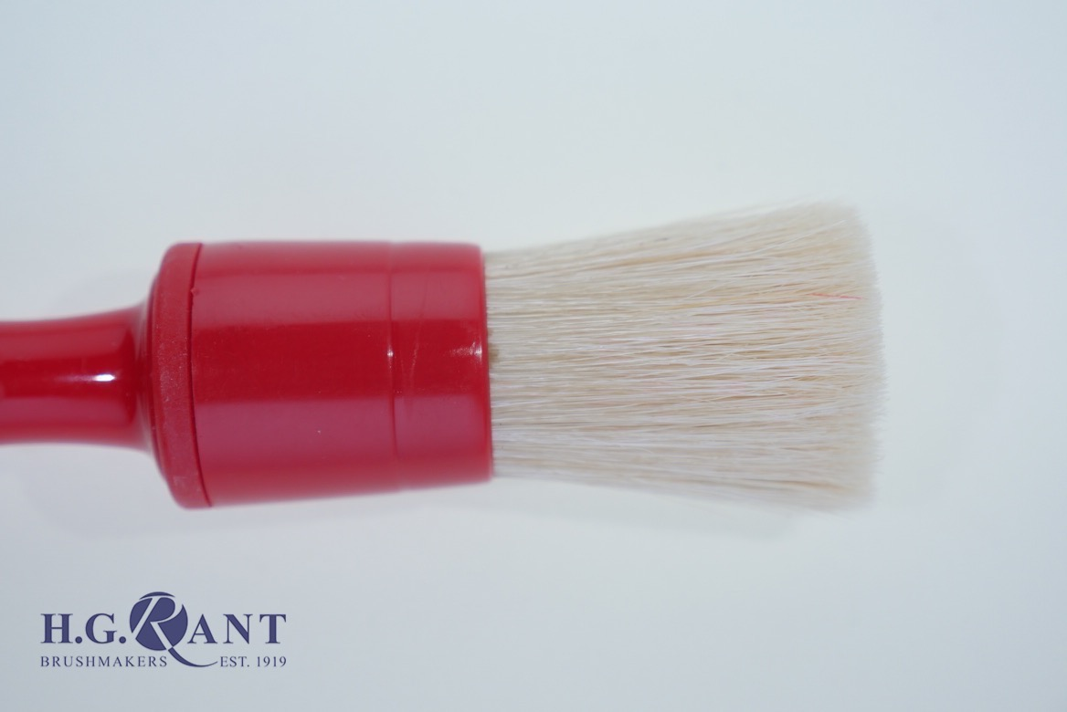 Round Red pastry brush (Also available with wood handle)