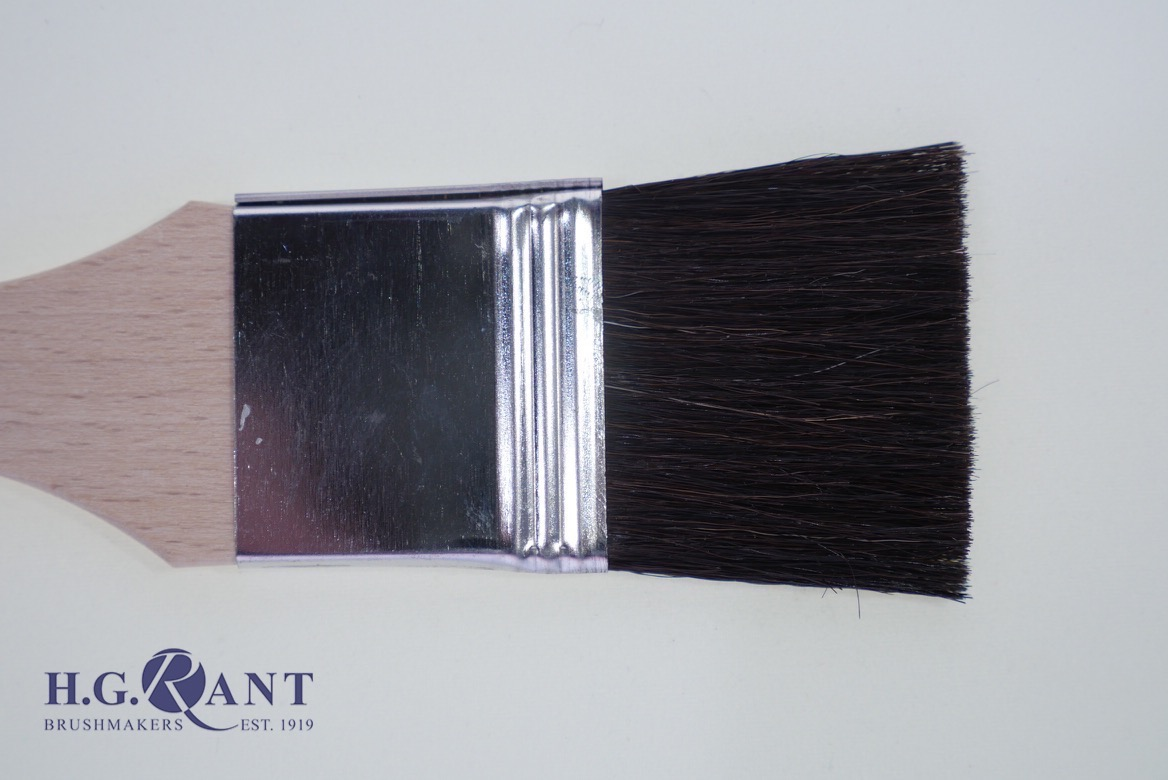 Soft Hair Flat Lacquer Brush (also available in squirrel mixture please ask for a quotation)