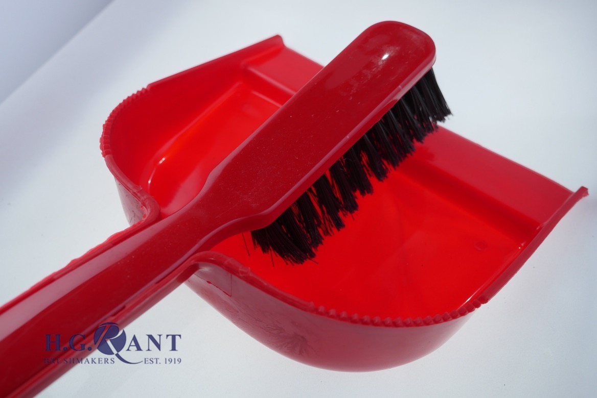Plastic Dustpan Sets (Colours  Vary)