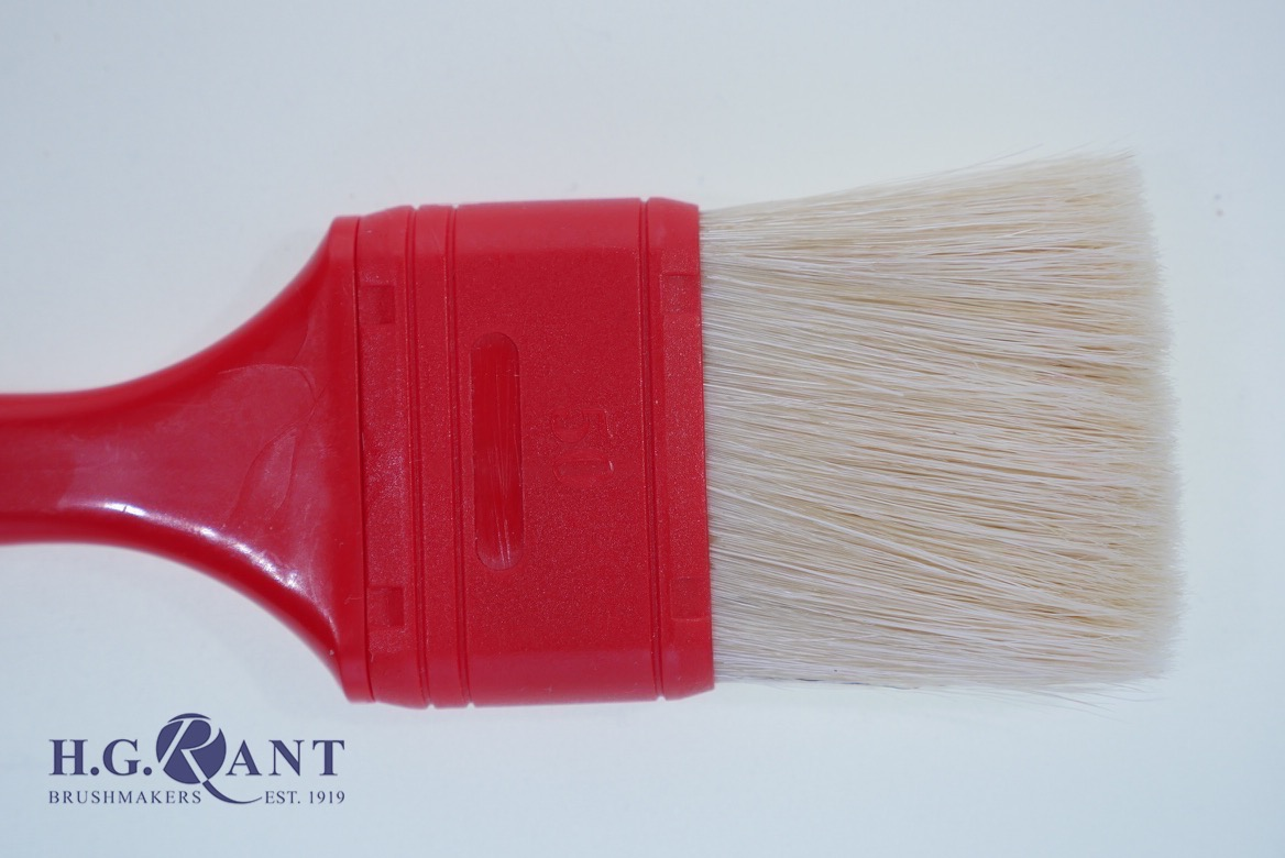 Flat Red Pastry brush (Also available with wood handle)
